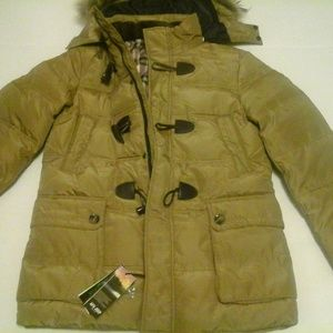A.f.S. Jeep Men Coat Size XL with Hood & Fur Trim
